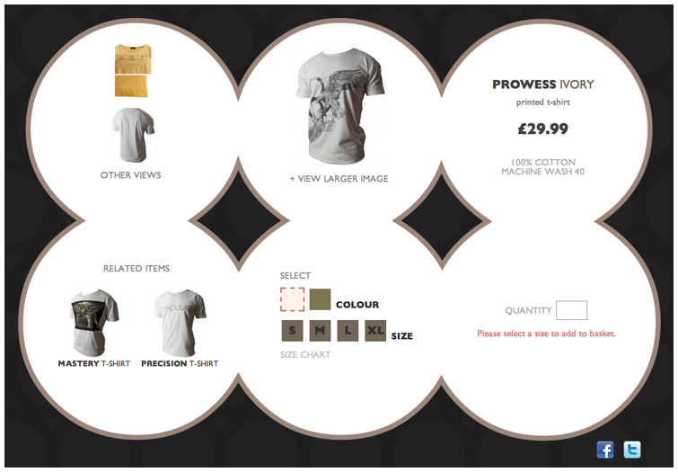 Product page image of the iMMACULATE Clothing website